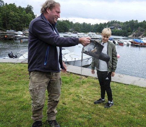 Minkfanger: Ulf Høyer-Jonassen rykket ut til Håkavika for å fange mink.   Foto: Sven Hauge