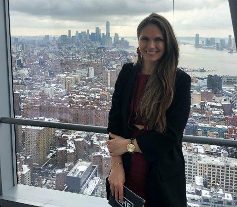 INVESTERING: Mens She Conference 2018 ble avholdt på kvinnedagen i Oslo, var Linn-Cecilie Linnemann på plass i New York for å holde foredrag under en konferanse med Innovasjon Norge og FN, hvor hun lanserte initiativet «She Invest».