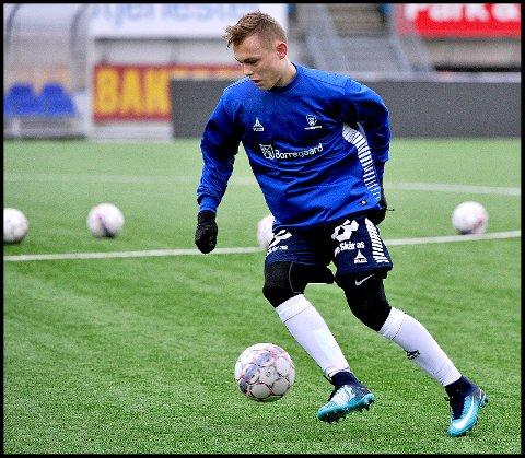 På La Manga: Johan Medalen Olstad er med U17 landslaget til La Mange. De to første kampene har endt med tap.