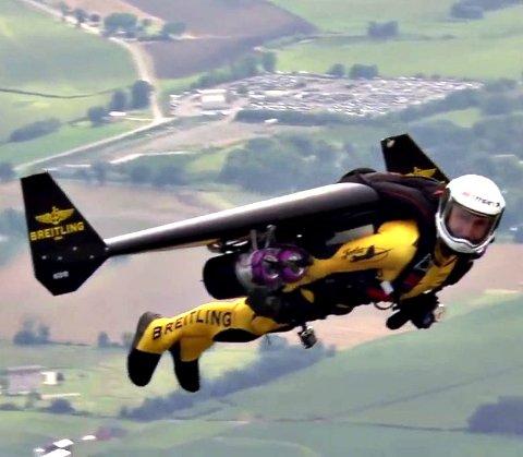Stunt: Det blir ikke noe av planene om å skyte ut en person med vinger og jetmotor fra toppen av den vernede Katthammaren.
