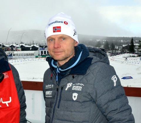 Nøgd: Dagleg leiar for Beitostølen skistadion, Kjell Berge Melbybråten. Han arbeider i tospann med arrangementskoordinator Erik Østli.