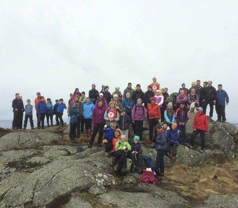 Byrknesfjellet: Her var den spreke gjengen som gjekk til Veten på Byrknesfjellet i fjor.Alle foto: linn dyveke wilberg