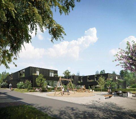 SKOGSNAR: Familieboligene på Finstad blir det neste prestisjeprosjektet for Solon Eiendom. Nå legges de første 28 rekkehusene ut for salg.
