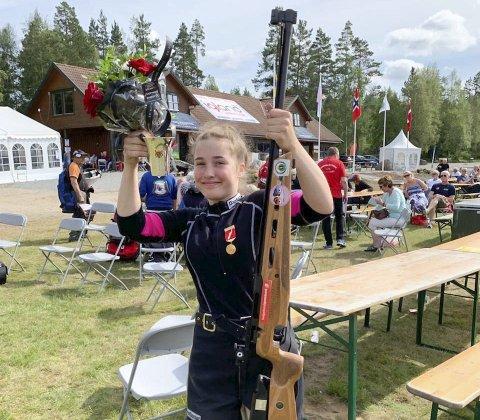 Suksess i landsskytterstevnet: Junioren Kaja Helene Remmen hadde en meget god sesong i 2019, og ble blant annet nummer to på feltskytinga på Evje. Foto: Geir Åge Remmen