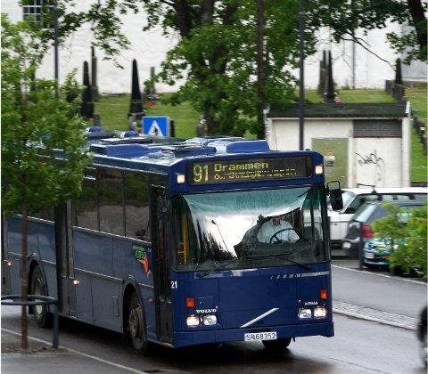 Lang prosess: Det har vært en lang prosess men nå skal det etablerews direkte bussrute mellom Hof og Sande i et prøveprosjekt.