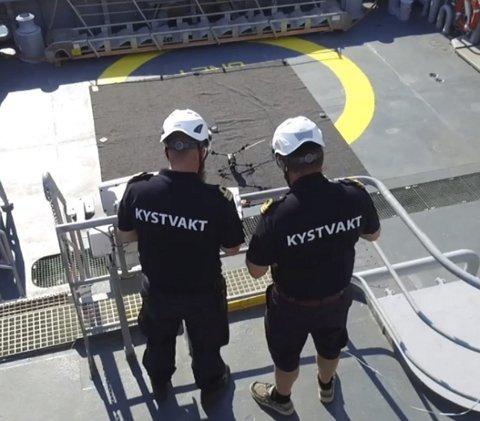 Nytt verktøy: Det er Kystvakten som opererer dronen.