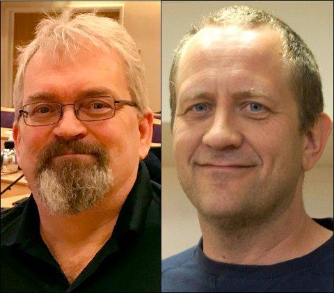 Søker jobb: Gard Olsen og Geir Sterten.