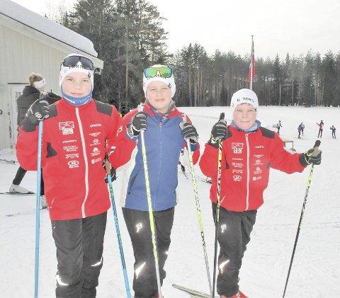 TØRNTRIO: Olav Anker Tørnes Kleiv, Peder Rosland og Jon Matias Tørnes Kleiv vant klassen gutter 11–13 år.