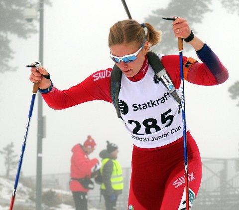 GOD SKYTING: Ragnhild Femsteinevik varta opp med veldig god skyting då ho var med og kjempa om medalje på normalprogrammet i NM i helga. (Arkivfoto).