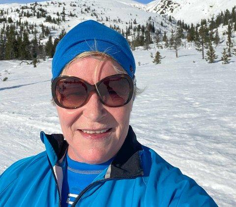 SÅ OFTE HUN HAR TID: Siv Jensen forteller at hun, sammen med sin søster Nina Jensen,  eier leilighet på Norefjell Ski og Spa på Bøseter. Hun er der mest på vinteren for å gå på ski.