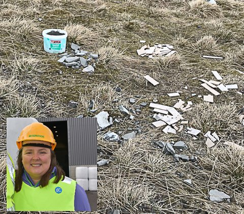 DYR FORSØPLING: Monica Kleffelgård Hartviksen forteller at det påløper mye større kostnader for samfunnet når noen andre må betale for opprydding, transport og levering av avfall som er dumpet.