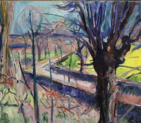 «Vårdag på Jeløy»: Et av maleriene Munch malte mens han bodde i Moss. Foto: Munch-museet