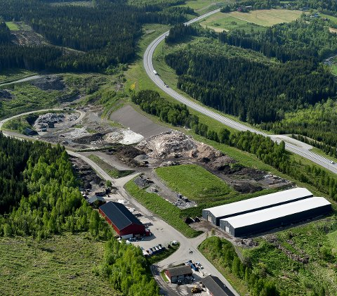 Flyfoto av GLT Avfall i Dalborgmarka