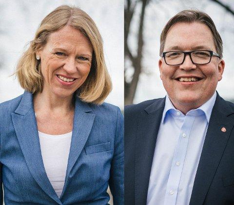 INN OG UT: Anniken Huitfeldt og Sverre Myrli.