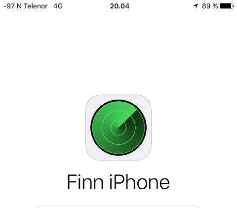 NYTTIG: Det kan være nyttig å ha appen Finn iPhone. Det fikk en mobiltelefoneier merke da det onsdag kveld var innbrudd i bilen hans i Tønsberg sentrum.