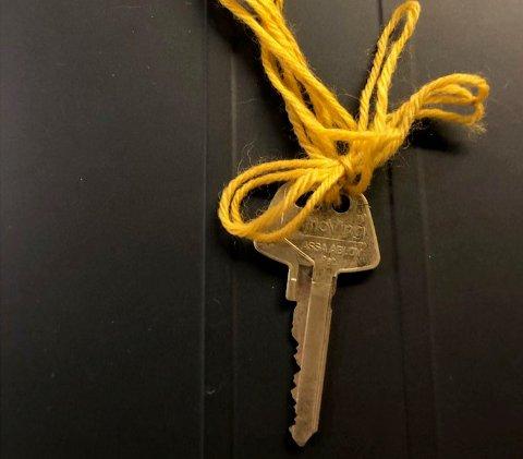 FUNNET: Nøkkel funnet i Svingbakken på det som blir omtalt som Ivars Rundløype