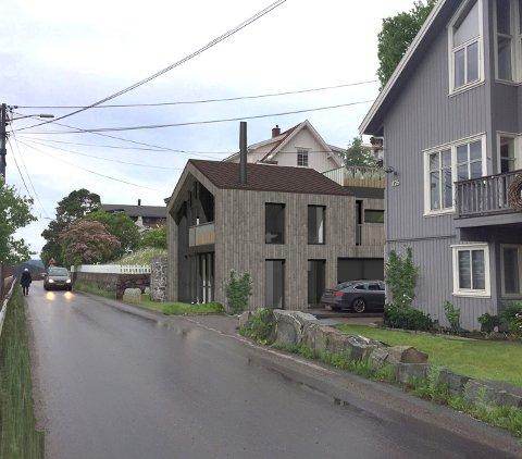 SLIK BLI DET: Slik vil husene i Vestbyveien etter planen se ut.