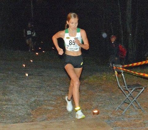 I FORM: Emma Kirkeberg Mørk satte ny rekord i kvinneklassen i Landfallhytta opp tidligere i høst.