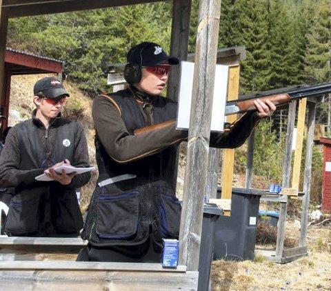 TREFFSIKKER: Simen Slaastad skjøt best av juniorene.