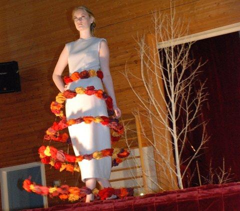 Denne kjolen ble laget til et prosjekt på Bjerkebæk.