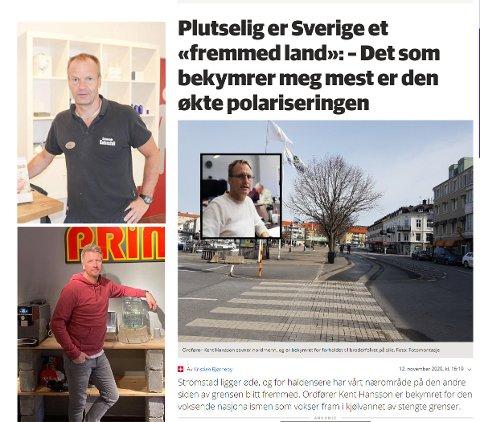Niklas Nordholm fra Radio Prime og Bert Ola Mattson fra Strömstad Bad savner nordmenn i Stromstad.
