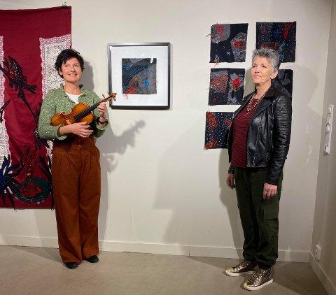 Elena Yakoleva og Lill-Anita Olsen åpnet utstillingen på SILO.