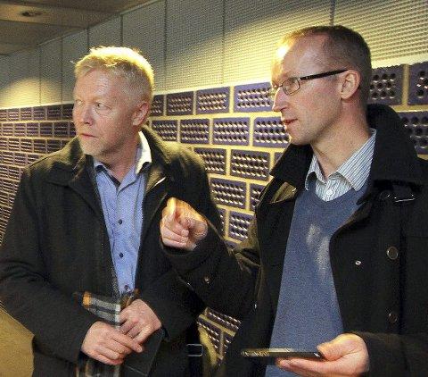 Mot riktig adresse: Regjeringen avgjør, vi setter inn kreftene med å fortelle dem hvordan det bør være, sier Jørn Wille og Gisle Haakonsen i Aksjon nei til fjordkryssing via Jeløy.
