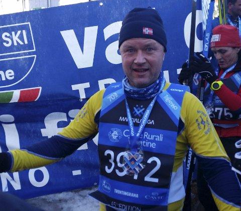 Debuterte: Paal Erik Dalaasen gikk Marcialonga.