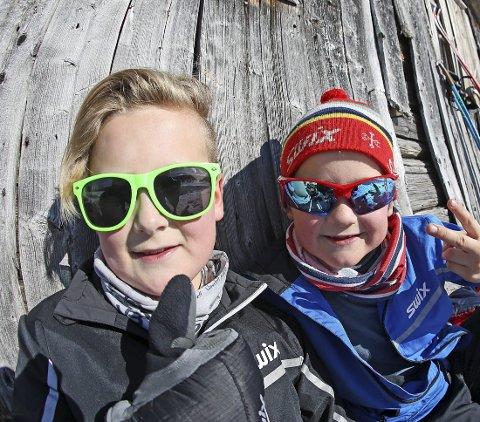 FAMILIEKOS: Blant barnefamilier er det populært å bli på den samme DNT-hytta gjennom hele påskeferien.  FOTO: Bjørholt, Nils-Erik /