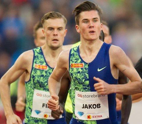 Jakob Ingebrigtsen løp 5000 meter i London lørdag ettermiddag. Arkivfoto.