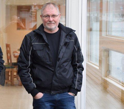 STORE PLANER: Alf Helge Fodnestøl håper han og de andre i selskapet Lerviga Opplag & Service får klarsignal av kommunen.