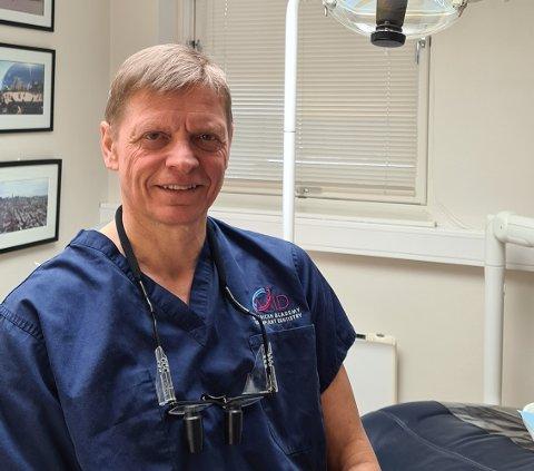 Tannlege Tor Tegnander sier det er krise for pasientene som trenger tannbehandling.