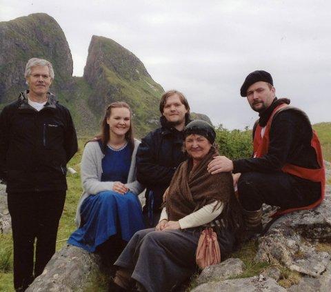 Familien Alisøy Søvig på Kinnaspelet i 2012. Frå v.: Otto, Oda, Kjetil, Agnes og Håvard. Håvard var i ei relativt stabil periode då, men det var i tida etter at det verkeleg eskalerte.