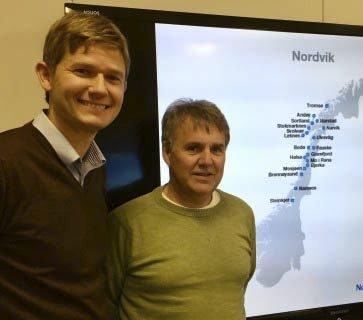 NHO-samarbeid: Christian Nordvik fra Nordvik Gruppen og Roger Strand fra Ringer i Vannet.