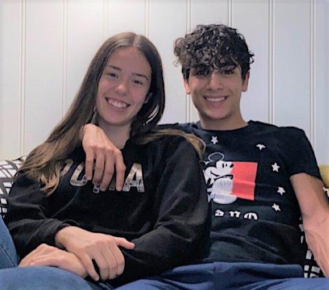 AVLYSER: Ajna (16) og Yara (16) velger å droppe festingen fremover, og heller håpe at jula og nyttårsfeiringen blir mer eller mindre normal.