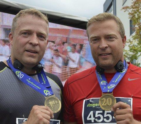 ENIGE: Tvillingene Morten (t.v.) og Tommy Lafton og deres respektive partier Arbeiderpartiet og SV skal samarbeide i Jevnaker. Morten Lafton blir som ventet ny. ordfører.