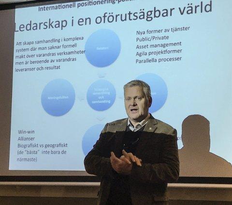LEDERSKAP: Offensivt lederskap, i en verden i rask endring, er noe av det Anders Granberg legger størst vekst på, når han forteller hvordan de jobber med næringsutvikling i Luleå.