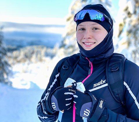 KOBLER AV: En skitur på Grønkjær er god avkobling for en OL-fokusert Iselin Moen Solheim.