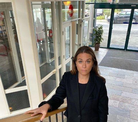 PREGET: Nav Lister-leder Bente Haugland forteller at også de lokalt ansatte i Nav er preget av det meningsløse drapet på en kollega i Bergen mandag.