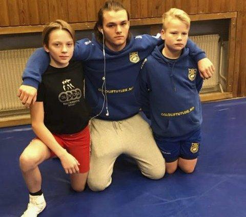 NARVIK-TRIO: Fra venstre Noah Normann, Simon Kuraas Johnsen og Iver Borgen