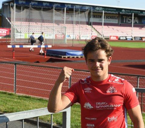 Eirik Lorås Vestby brukte ikke lang tid på å vise seg fram for Kvik