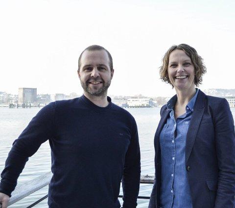 Nytt samarbeid:  Prosjektleder for Grenseløse muligheter, Henrik Sandvik, og arrangør av Fjordfesten, Hanne Børresen Johansen, gleder seg til å kunne samarbeide i tiden fram mot festivalen.