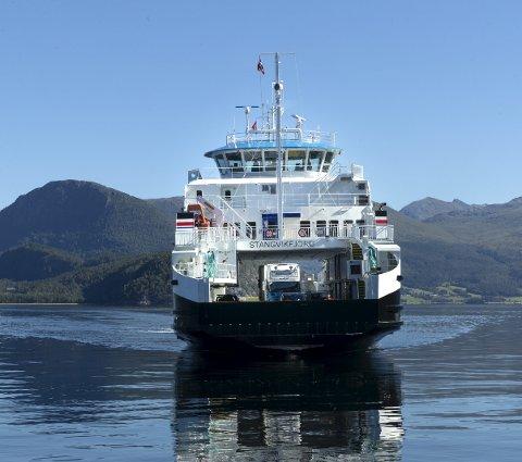 Nyferja: Gjør turen over fjorden svært så komfortabel.