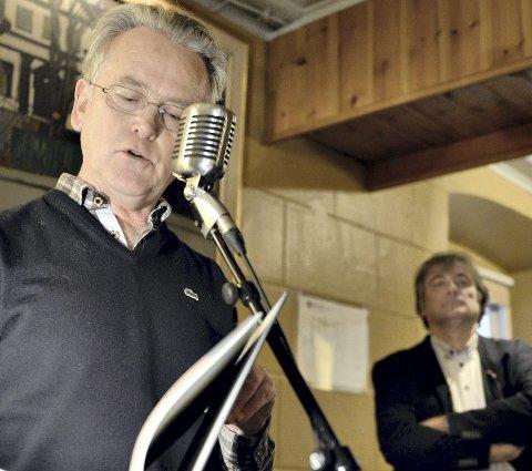Gunnar Staalesen og Jo Gjerstad i tospann.