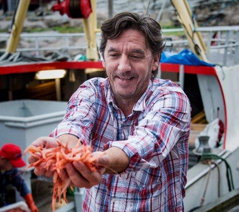 Spennende rekefiske. Kurt Allan Hansen er sjef for Fjordfisk hvor salgstallene er sterkt økende.