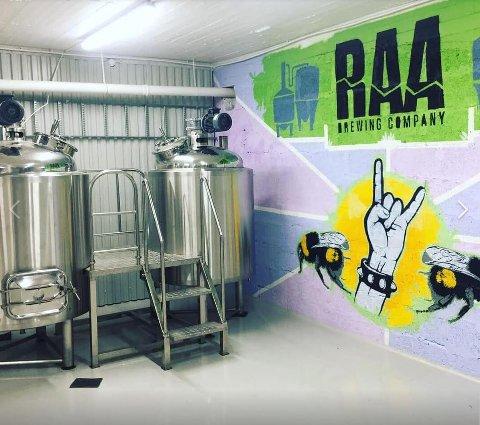 Bryggeri i Elgveien: Bryggeriet til Raw Brewing Companykan snart settes i drift.