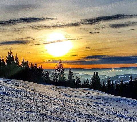 7. Fortsatt kalde dager og snø i fjellet i Gausdal nordfjell. Foto: Kristin Bergseng