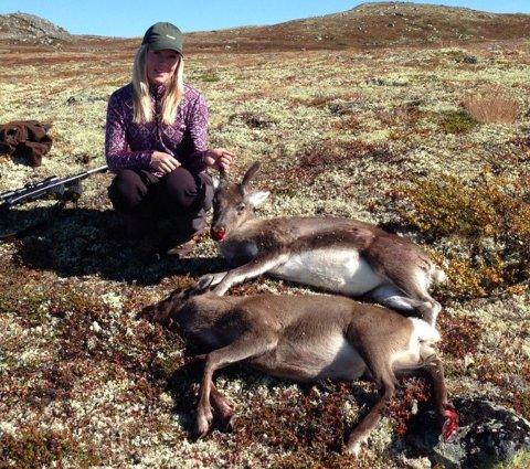 IVRIG: Ida er en ivrig jeger av både villrein og elg. Her fra Hardangervidda.