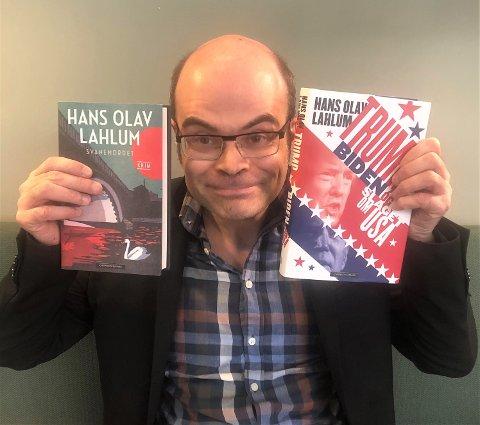 SKRIVEGLAD: Hans Olav Lahlum er som vanlig aktiv ved tastaturet, og kommer i høst ikke bare med to, men tre nye bøker.