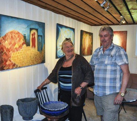 TILBAKE: Laila Leknes har også i år invitert Sigmund Nyberg som gjesteutstiller.